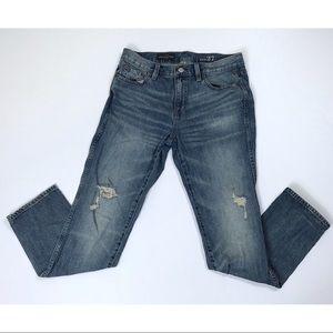 J Crew Slim Distressed Broken In Boyfriend Jeans